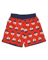 Florence Eiseman Sailboat Swim Trunks, Red, Size 6-24 Months