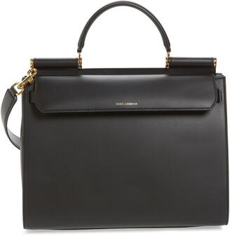 Dolce & Gabbana Medium Miss Sicily Calfskin Leather Satchel