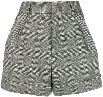 Saint Laurent Micro Houndstooth Shorts