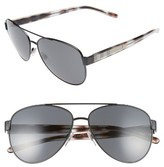 Burberry Women's 60Mm Aviator Sunglasses - Matte Black