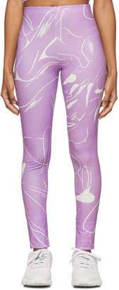 Daniëlle Cathari SSENSE Exclusive Purple Emblazoned Leggings