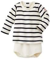 Petit Bateau Baby striped long-sleeved T-shirt bodysuit