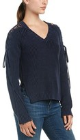 Fate Lace-up Sleeve Sweater.