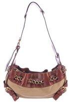 Burberry Leather-Trimmed Shoulder Bag