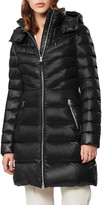 Mackage Lara Fitted Down Puffer Coat with Detachable Hood