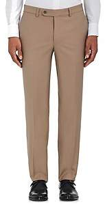Barneys New York MEN'S VOYAGER WOOL-BLEND FLAT-FRONT TROUSERS