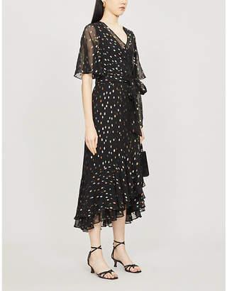 Diane von Furstenberg Berdina metallic polka-dot crepe midi dress