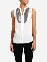 The Limited Sequined Tuxedo Blouse