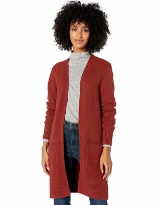 Goodthreads Boucle Cardigan Sweater Rust Heather