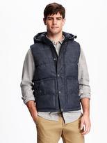 Old Navy Hooded Heathered Vest for Men