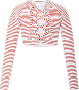 Mara Hoffman Jacquard Stripe Terry Lace-Up Rashguard