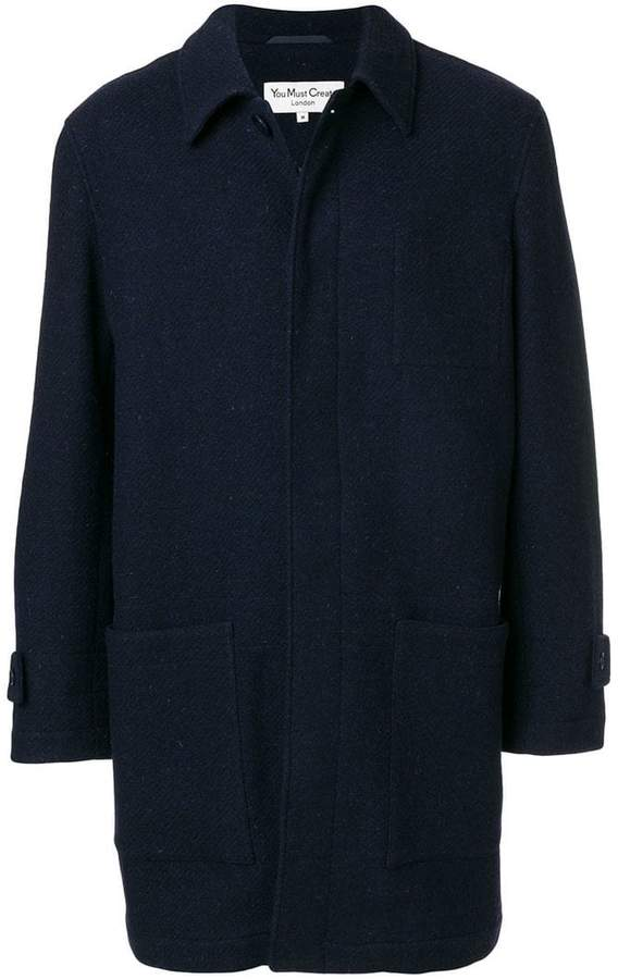 YMC midi straight coat