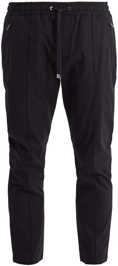 Dolce & Gabbana Pinstriped cotton-blend track pants