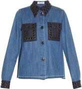 Sonia Rykiel Stone-embellished denim shirt
