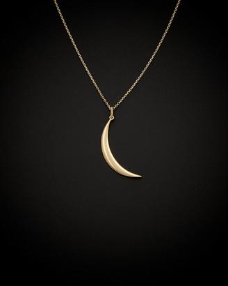 Italian Gold 14K Crescent Moon Necklace