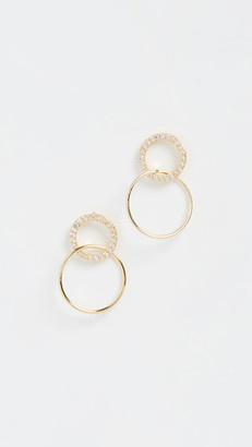 Gorjana Balboa Shimmer Interlocking Stud Earrings