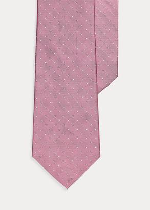 Ralph Lauren Pin Dot Peau de Soie Tie