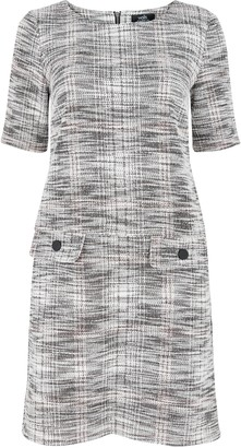 Wallis PETITE Grey Jacquard Shift Dress