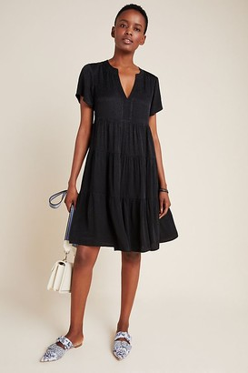 Maeve Sacha Jacquard-Tiered Tunic Dress