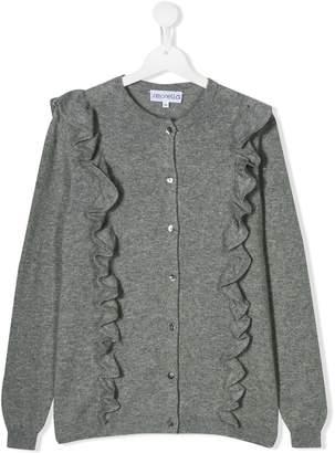 Simonetta frill-trim fitted cardigan