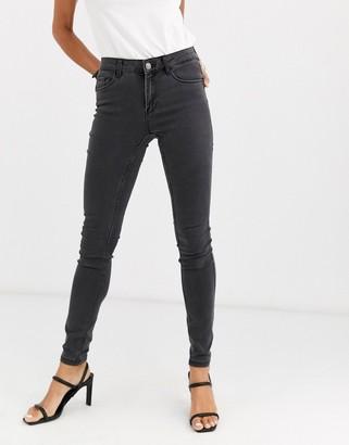 Vero Moda skinny shape up jeans in dark grey