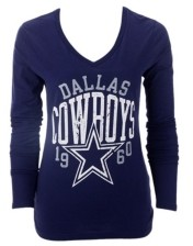 Authentic Nfl Apparel Dallas Cowboys Women's Name Fade Long Sleeve T-Shirt