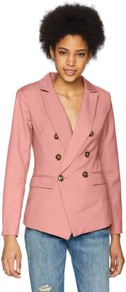 C/Meo Collective Women's Double Breasted Blazer with Front Pockets and Button Detail