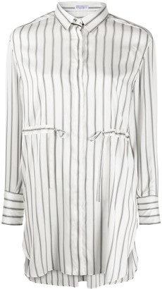 Brunello Cucinelli Striped Longline Shirt
