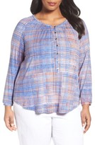 Nic+Zoe Plus Size Women's Checked Out Top