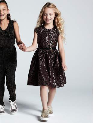 M&Co Leopard jacquard prom dress (3 - 12 yrs)