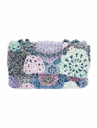 Chanel Paris-Seoul Crochet-Work Flap Bag blue