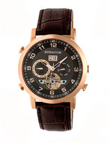 Heritor Edmond Mens Brown Strap Watch-Herhr6205