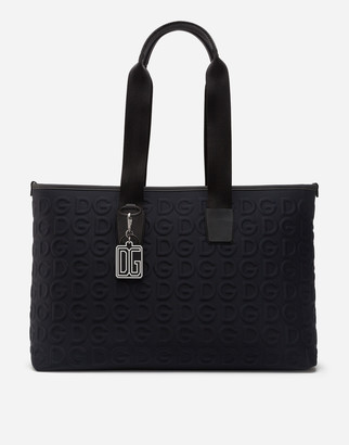 Dolce & Gabbana Neoprene Palermo Tecnico Bag With All-Over Detailing