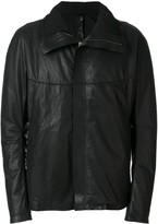High-Collar Zip-Up Jacket