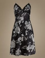 Marks and Spencer Floral Satin Chemise