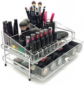 Vandue OnDisplay 2 Tier Chromed Steel Frame Acrylic Cosmetic/Makeup Organizer