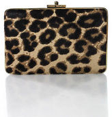 Henri Bendel Brown Beige Animal Print Pony Hair Clutch Handbag