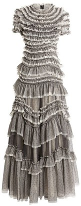 Needle & Thread Wild Rose Tulle Ruffled Gown