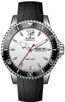 Edox Men's 'Chronorally-S' Quartz Stainless Steel and Rubber Sport Watch