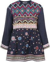 Alice + Olivia Alice+Olivia - embroidered jacket - women - Linen/Flax/Nylon/Polyester - M