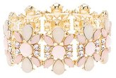 Charlotte Russe Flower Gemstone Stretch Cuff Bracelet