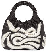 The Row Double Circle Small Embroidered Top-Handle Bag