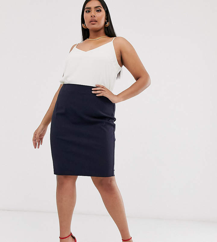 fac67c418e269c Navy High Waist Pencil Skirt - ShopStyle UK
