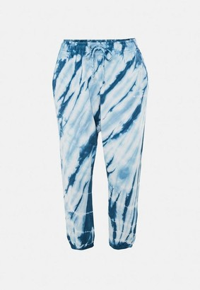 Missguided Plus Size Blue Tie Dye 90S Joggers