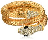 Yochi Jet Mesh Coil Snake Bracelet