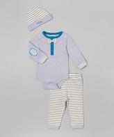 Wendy Bellissimo Gray Bow Tie Bodysuit Set - Infant