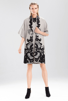 Josie Natori Cool Wool Embroidered Topper
