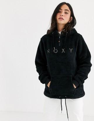 Roxy Snow Pluma Sherpa fleece in black