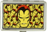 Iron Man Buckle Down Buckle-Down Business Card Holder Face CLOSE-UP Stacked - Large