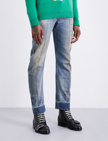 Gucci Seam-detail slim-fit tapered jeans